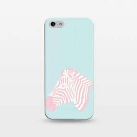 iPhone 5/5E/5s  Pink Zebra by Martina (zebra,animal,nature,girly,feminine,for her,graphic,modern,illustration,pink)