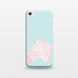 iPhone 5C  Pink Zebra by Martina (zebra,animal,nature,girly,feminine,for her,graphic,modern,illustration,pink)