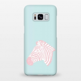 Galaxy S8+  Pink Zebra by Martina (zebra,animal,nature,girly,feminine,for her,graphic,modern,illustration,pink)