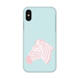 iPhone X  Pink Zebra by Martina (zebra,animal,nature,girly,feminine,for her,graphic,modern,illustration,pink)