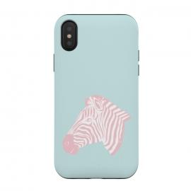 iPhone Xs / X  Pink Zebra by  (zebra,animal,nature,girly,feminine,for her,graphic,modern,illustration,pink)