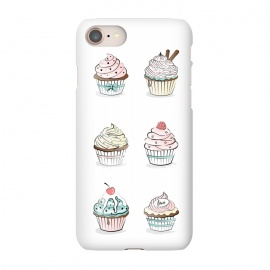 iPhone 8/7  Sweet Cupcakes by Martina (food,cupcakes,sweet,illustration,modern,feminine,girly,pastel,colorful,stylish)