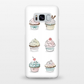 Galaxy S8+  Sweet Cupcakes by Martina (food,cupcakes,sweet,illustration,modern,feminine,girly,pastel,colorful,stylish)
