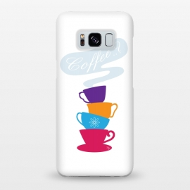 Galaxy S8+  Bright Coffee Cups by Martina