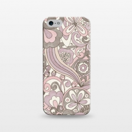 iPhone 5/5E/5s  Retro Colouring Book Pink and Gray by Paula Ohreen