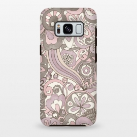 Galaxy S8+  Retro Colouring Book Pink and Gray by Paula Ohreen