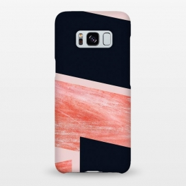 Galaxy S8+  iNDULGE and vICE by Uma Prabhakar Gokhale (graphic design, texture, blush, pink, black, contrast, abstract, line art, geometric, overlap)