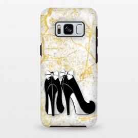 Galaxy S8 plus  Luxury Golden Marble Heels by  (shoes,heels,stilettos,high heels,shoe lover,shoe love,elegant,modern,stylish,fashion,accessory,bow,black,gold,golden,marble,pattern,texture,luxury,for her,girl boss)