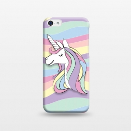 iPhone 5C  Cute Rainbow Unicorn by Martina (cute,sweet,modern,colorful,stylish,childish,for kid,for girl,girly,for daughter,unicorn,animal,rainbow,pastel,geometric,happy,positive)