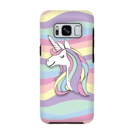 Cute Rainbow Unicorn by Martina (cute,sweet,modern,colorful,stylish,childish,for kid,for girl,girly,for daughter,unicorn,animal,rainbow,pastel,geometric,happy,positive)