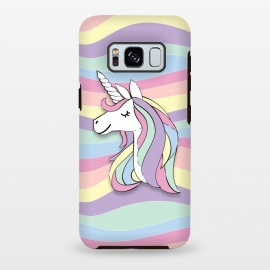 Galaxy S8+  Cute Rainbow Unicorn by Martina (cute,sweet,modern,colorful,stylish,childish,for kid,for girl,girly,for daughter,unicorn,animal,rainbow,pastel,geometric,happy,positive)