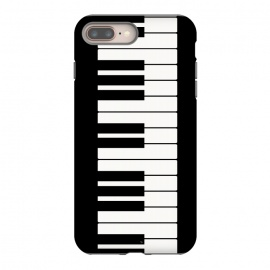 Black and white piano keys music instrument by Martina (piano,black and white,music,instrument,keys,musician,for her,for him,pianist,player,piano player,for pianist,for musician,elegant,simple,minimalist,unisex)