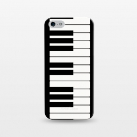 iPhone 5/5E/5s  Black and white piano keys music instrument by Martina