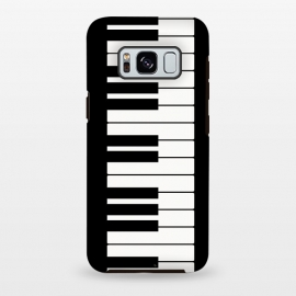 Galaxy S8+  Black and white piano keys music instrument by Martina (piano,black and white,music,instrument,keys,musician,for her,for him,pianist,player,piano player,for pianist,for musician,elegant,simple,minimalist,unisex)