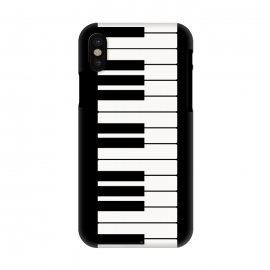 iPhone X  Black and white piano keys music instrument by Martina