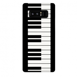 Galaxy Note 8  Black and white piano keys music instrument by