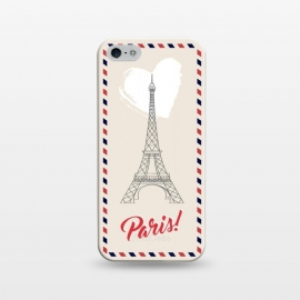 iPhone 5/5E/5s  Vintage envelope Eiffel Tower in Paris by Martina (paris,france,eiffel tower,vintage,old,stylish,graphic,illustration,envelope,greeting,love,heart,elegant,modern,typography,landscape,monument)