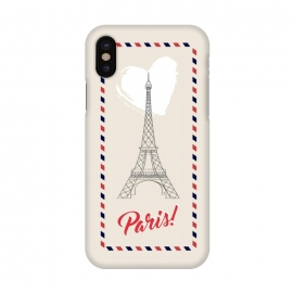 iPhone X  Vintage envelope Eiffel Tower in Paris by Martina (paris,france,eiffel tower,vintage,old,stylish,graphic,illustration,envelope,greeting,love,heart,elegant,modern,typography,landscape,monument)