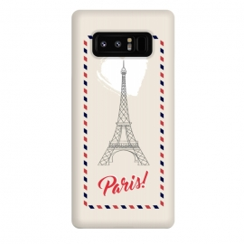 Galaxy Note 8  Vintage envelope Eiffel Tower in Paris by Martina