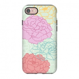 iPhone 8/7  Pretty pastel peonies by Martina
