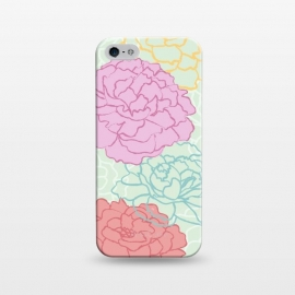iPhone 5/5E/5s  Pretty pastel peonies by Martina