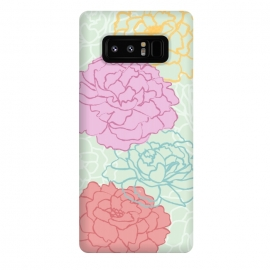 Galaxy Note 8  Pretty pastel peonies by Martina