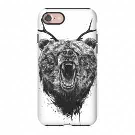 iPhone 8/7  Angry bear with antlers by Balazs Solti