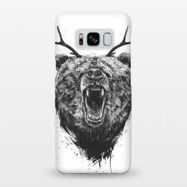 Galaxy S8+  Angry bear with antlers by Balazs Solti