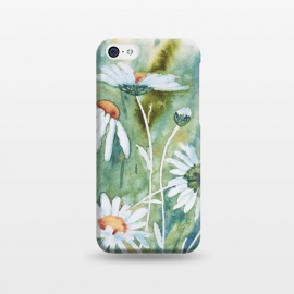 iPhone 5C  Watercolour Daisies by Paula Ohreen