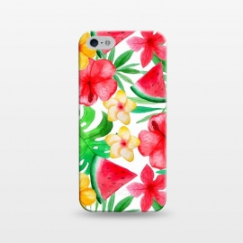 iPhone 5/5E/5s  Aloha Tropical Hibiscus and Melon Pattern by Utart