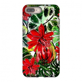 iPhone 8/7 plus  Aloha Tropical Passiflora Jungle by Utart