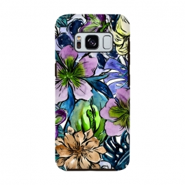 Purple Aloha Hibiscus Tropical Flower Pattern by Utart
