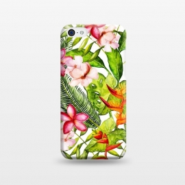 iPhone 5C  Aloha Tropical Flower Jungle Pattern by Utart