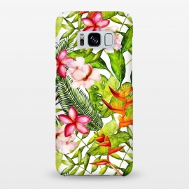 Galaxy S8+  Aloha Tropical Flower Jungle Pattern by Utart