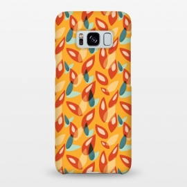 Galaxy S8+  Orange Blue Yellow Abstract Autumn Leaves Pattern by Boriana Giormova