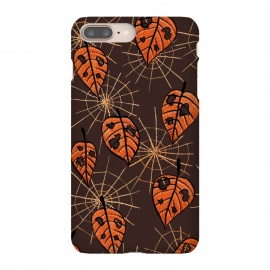 Orange Leaves With Holes And Spiderwebs by Boriana Giormova