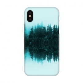 iPhone X  Cloudy Forest by Creativeaxle