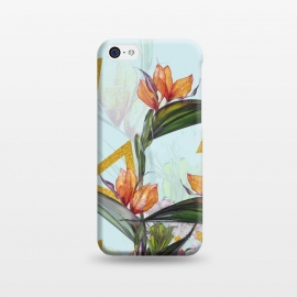 iPhone 5C  Floral Gold Triangle by Creativeaxle