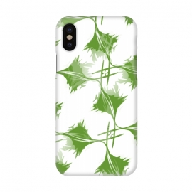 iPhone X  Green Leaves by Creativeaxle