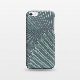 iPhone 5C  Teal Palm Leaves by Andrea Haase