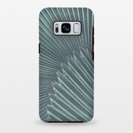 Galaxy S8 plus  Teal Palm Leaves by