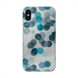 iPhone X  Fancy Faux Glitter Dots In Teal And Turquoise by Andrea Haase