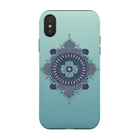 iPhone Xs / X  Precious Turquoise Mandala Ornament by Andrea Haase