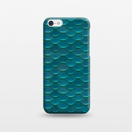 iPhone 5C  Shiny Green Mermaid Scales by Andrea Haase