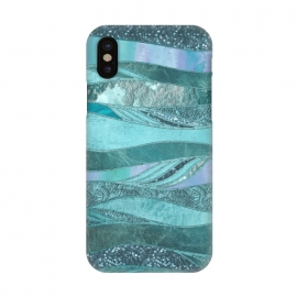 iPhone X  Glamorous Waves Of Turquoise and Teal by Andrea Haase