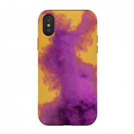iPhone Xs / X  Ultraviolet Fumes by Gringoface Designs (ultraviolet,pantone of the year,orange,gold,smoke,fumes,vapor,abstract,bright colors,trendy,teens,vivid,colors,rare,best selling,gringoface,4k,5k,instagram,trippy,psychedelic ,fire,pop art,pop culture)