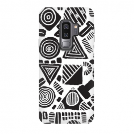 Galaxy S9 plus  0001 by  (pattern,black & white,geometric,hand drawn,paint,ink)