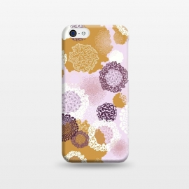 iPhone 5C  Doily Flowers on Pink by Paula Ohreen