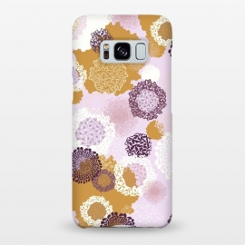 Galaxy S8+  Doily Flowers on Pink by Paula Ohreen