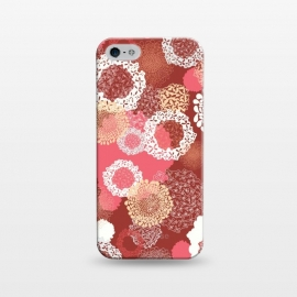 iPhone 5/5E/5s  Doily Flowers on Red by Paula Ohreen